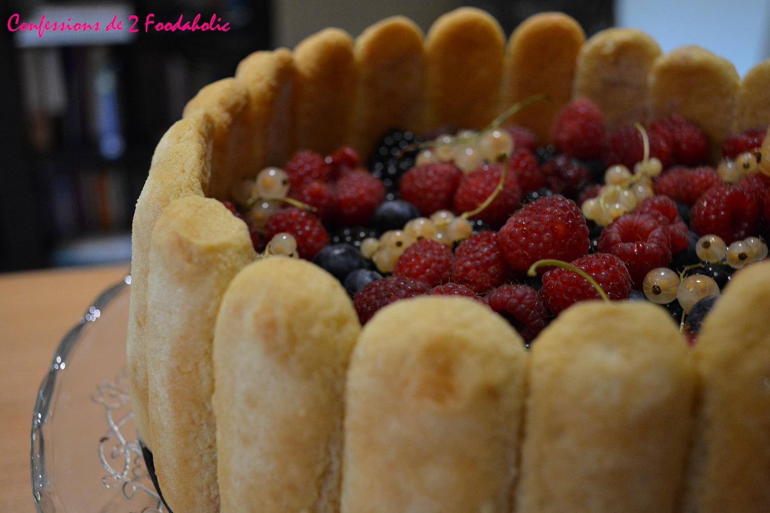 Charlotte aux fruits rouges confessions de 2 foodaholic for Coulis fruits rouges surgeles