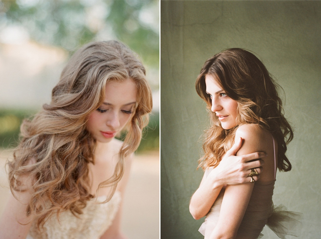 long bohemian wavy wedding hair