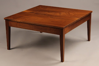 Square Coffee Table For Sale Handmade of solid Walnut