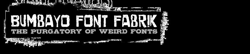 Bumbayo Font Fabrik