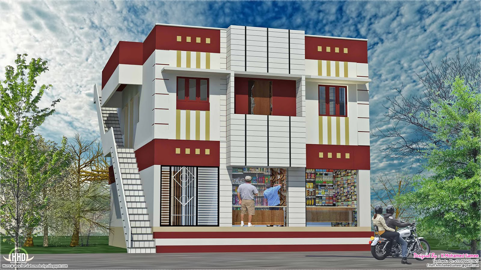 Superieur Home With Shop Design