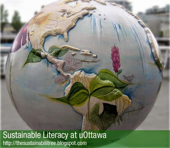 planet art from Vancouver, uottawa, office of campus sutainability, literacy