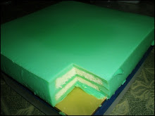 PANDAN LAYER SLICE CAKE