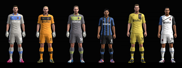 PES 2013 Club Brugge KV 2012/13 Kits Update by HenriikeTW