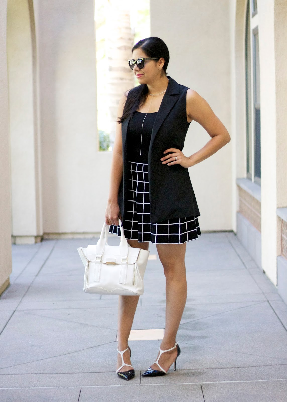 Black and White Grid Outfit, san diego fashion blogger, san diego fashion bloggers, san diego style, san diego street style