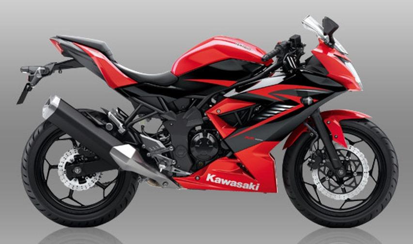 Ini dia pilihan warna dan striping baru Kawasaki Ninja RR Mono di awal tahun 2016 . .