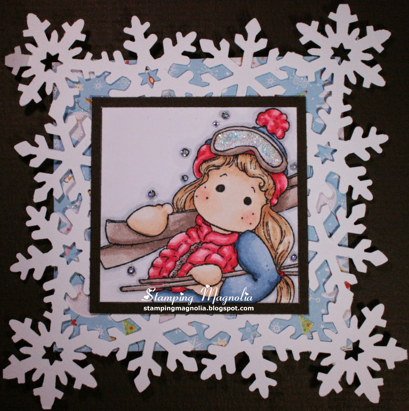 Coloring Magnolia Stamp A Christmas Story Collection - Tilda in Mountains