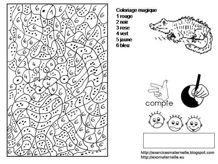 Maternelle Crocodile Au Carnaval Coloriage Magique