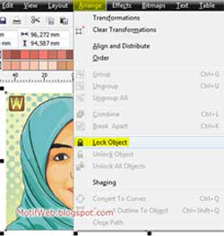 Lock Object Arrange CorelDRAW