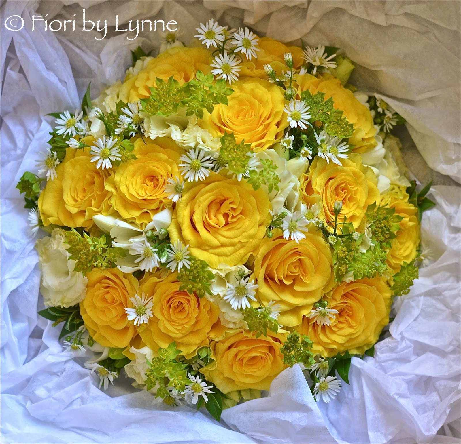 Wedding Flowers Blog Lynnes Yellow Lime And White Wedding Flowers
