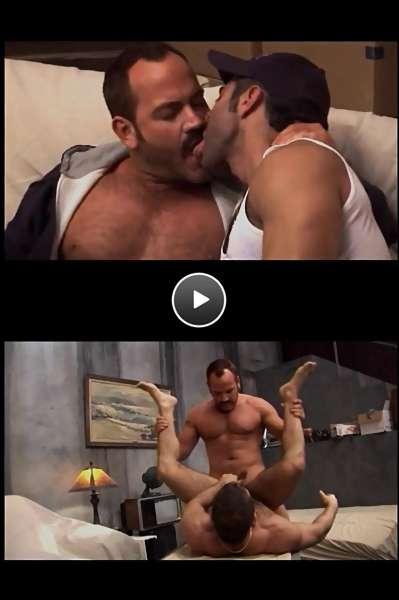 muscle men cock video