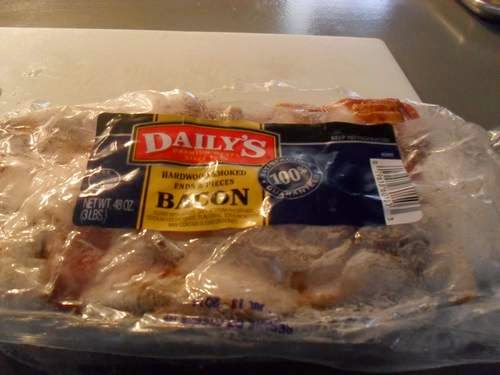 Package of 3-pounds bacon ends