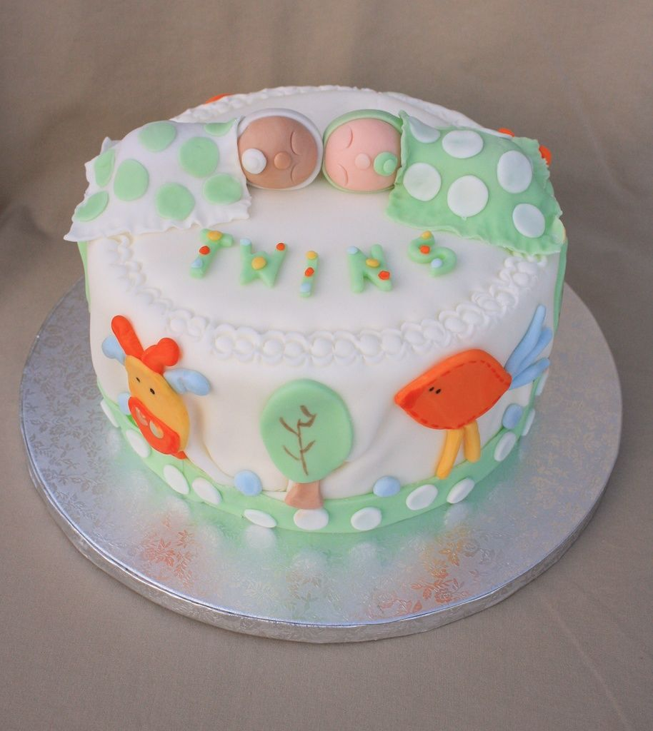 Cakealicious Surprises Baby Twins Cake Pregnancy Announcement