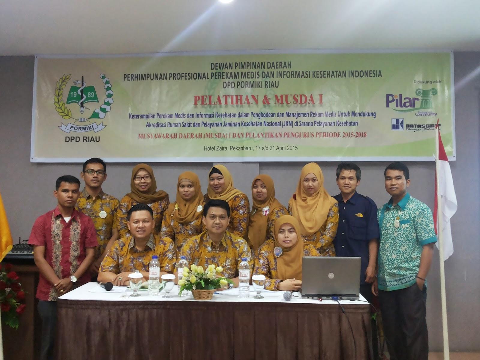 Musyawarah Daerah I DPD PORMIKI Riau Tahun 2015
