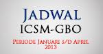 Jadwal ICSM & GBO