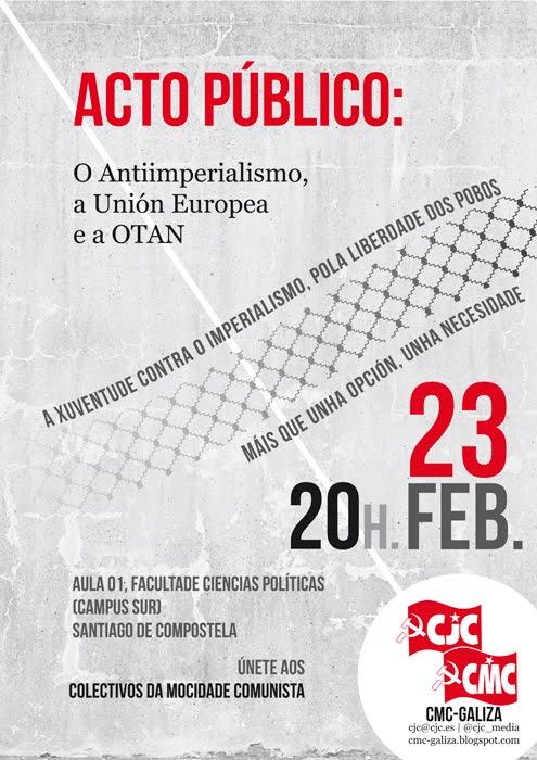 [CMC-CJC] Acto Antiimperialista en Santiago de Compostela  Galiza_ocho