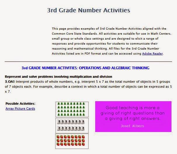 http://www.k-5mathteachingresources.com/3rd-grade-number-activities.html