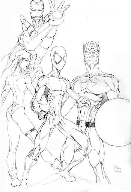 Marvel composite - Spiderman - Capitan America - Iron Man