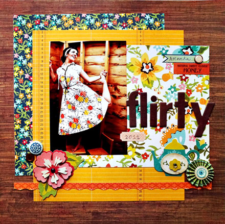Crate Paper scrapbook layout