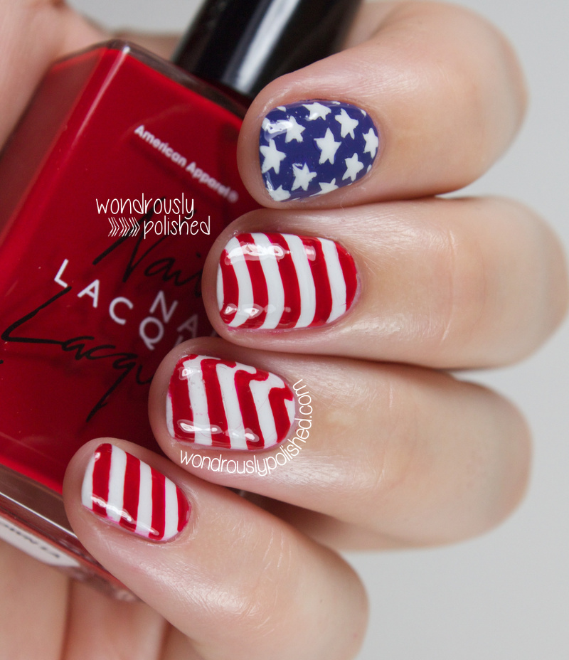 Wondrously Polished Happy Fourth Of July American Flag Inspired