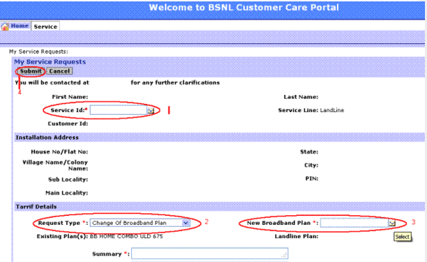 how to get isp username and password of bsnl