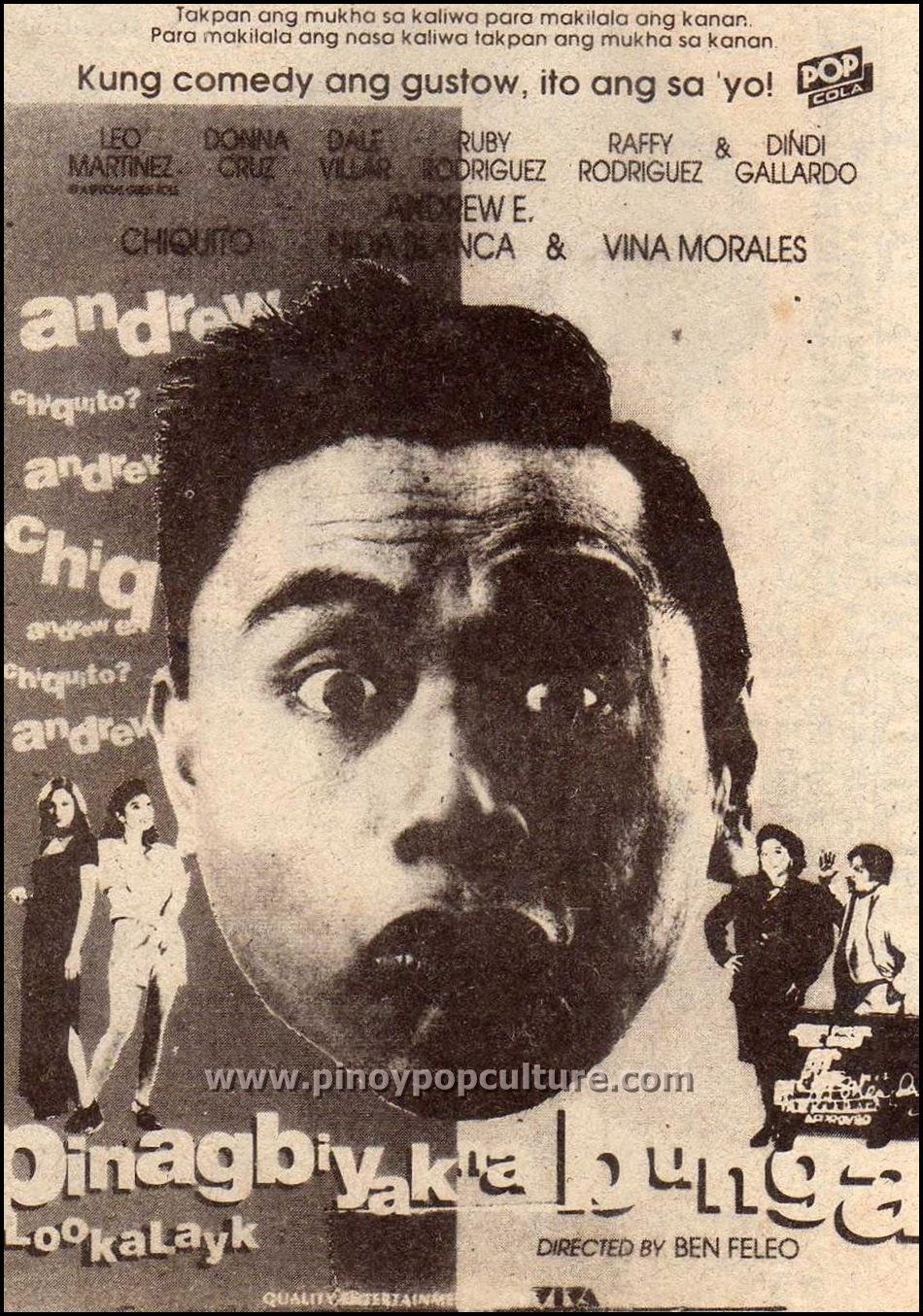 Pinagbiyak na Bunga, Lookalayk, Andrew E., Chiquito, Viva Films, movies