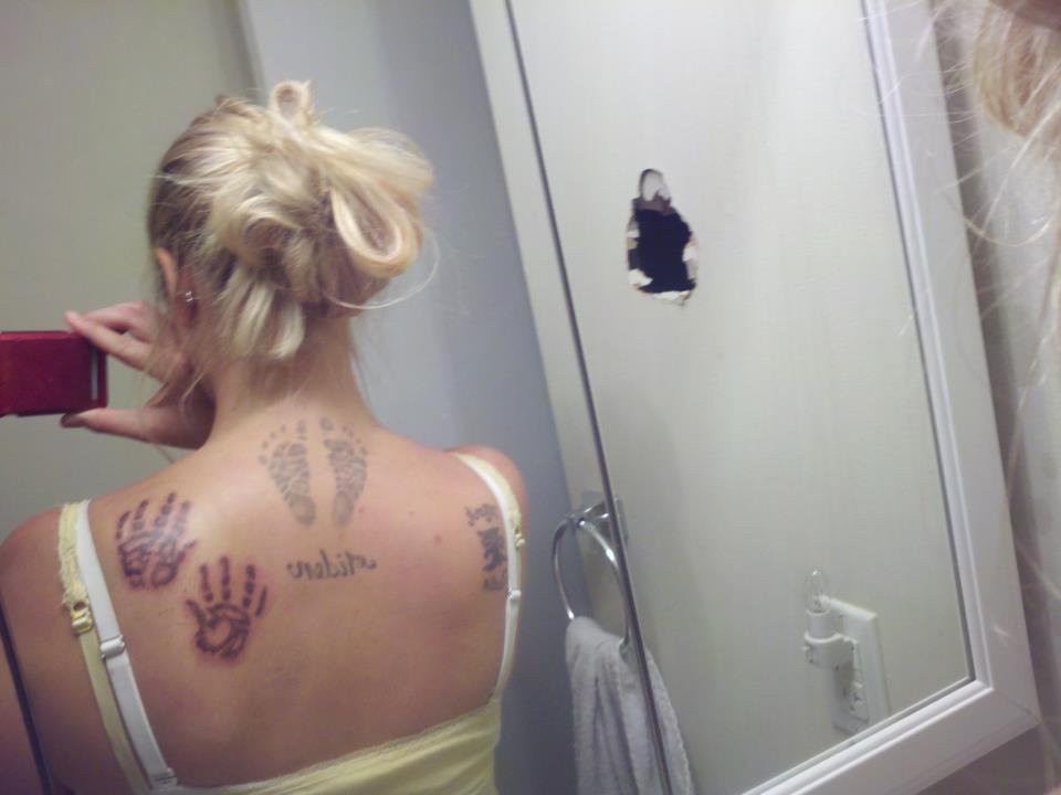 Baby Handprint and Footprint Tattoos