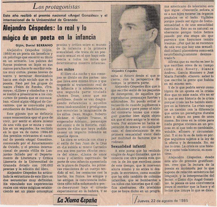 Daniel Serrano; La Nueva España, entrevista.