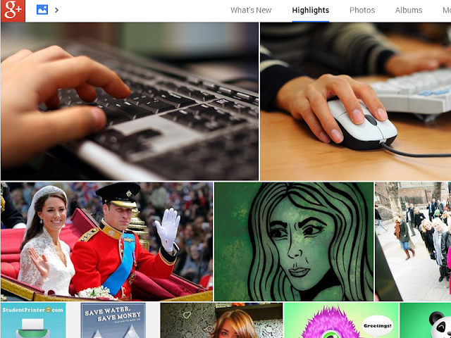 New Google Plus photo feature layout