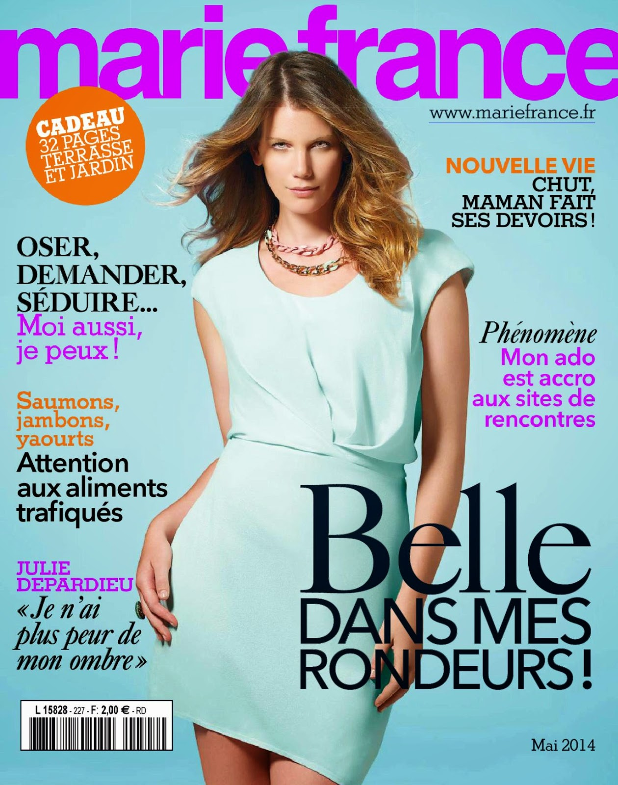 magazines the charmer pages claryssa for marie france magazine france may 2014. Black Bedroom Furniture Sets. Home Design Ideas