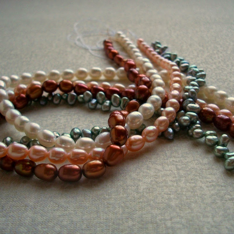 Freshwater Pearls - Four Strands in Various Colors