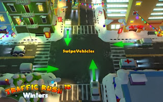 game simulasi Traffic Rush Winters 3D