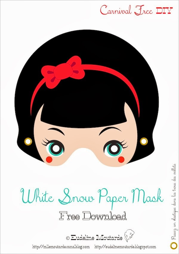 Snow white free printable masks oh my fiesta in english - Blanche neige halloween ...