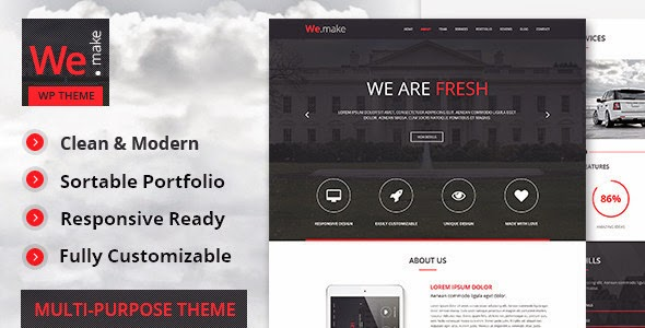 New One Page WordPress Theme