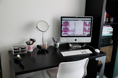 A photo of my ideal desk space. Organised and Chic