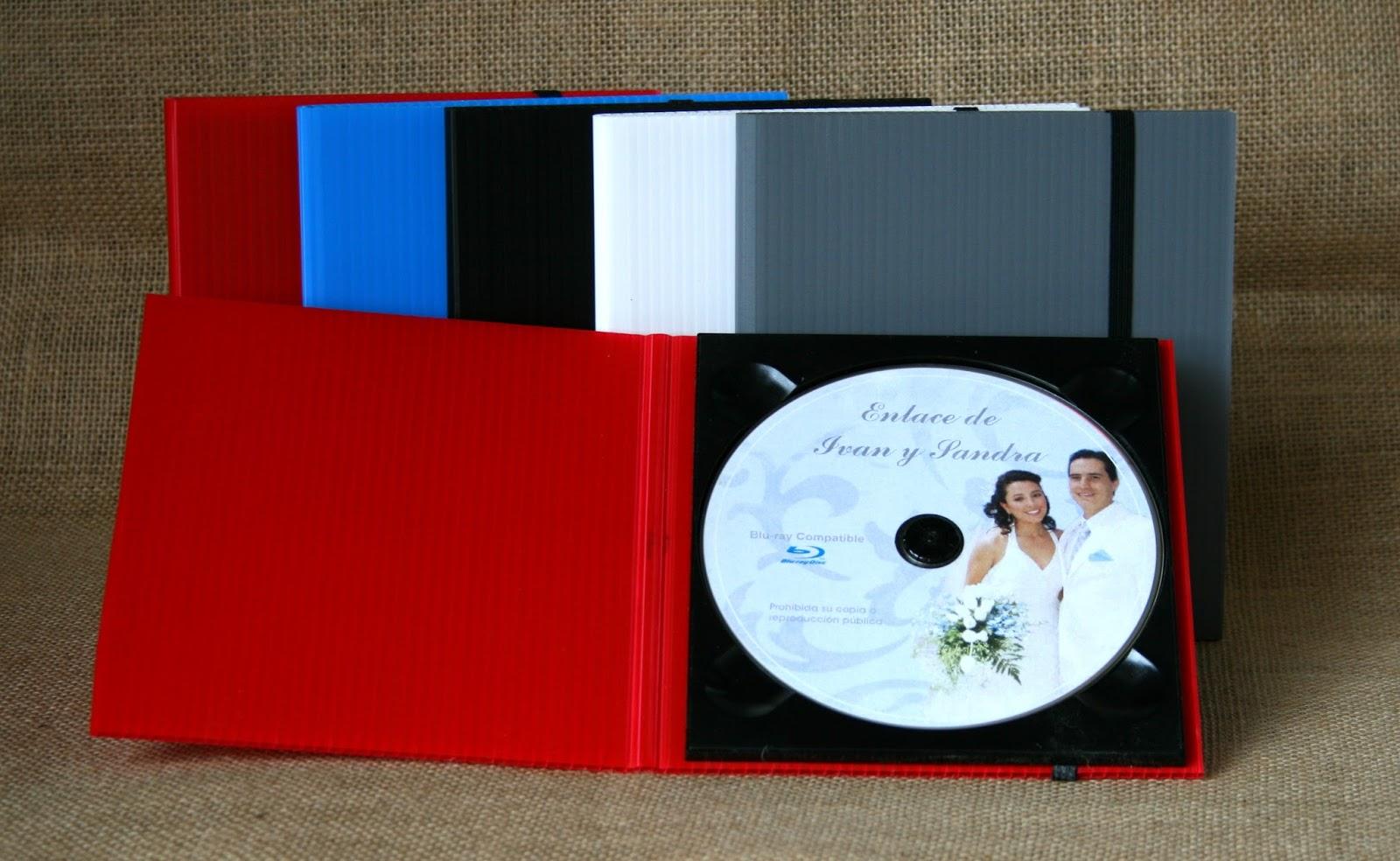 Estuche para DVD policarbonato abierto