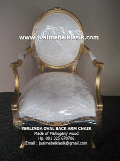 Supplier Indonesia classic furniture supplier wooden arm chair supplier classic wooden chair with gold leaf painted