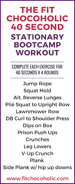 40 Second Stationary Boot Camp Workout