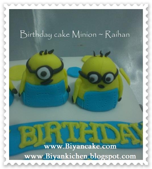 BIyanCakes: Pesan kue tart di bekasi : Kue tart Minion ~ Raihan
