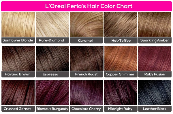 loreal midnight ruby chocolate cherry dark brown hairs