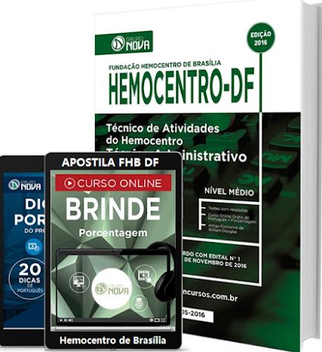 Apostila Hemocentro (FHB) Técnico de Atividades do Hemocentro-DF 2017