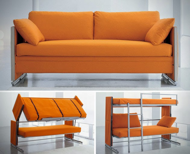 10 innovative and cool convertible sofa designs Convertible couch bunk bed