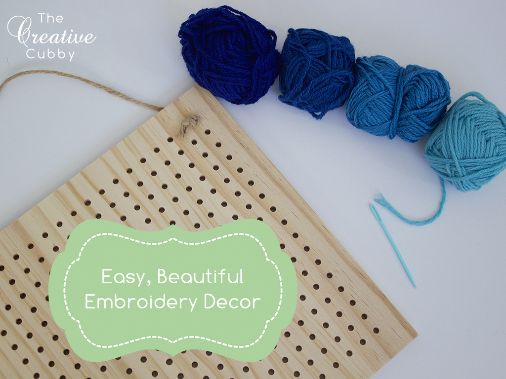 Easy, Beautiful Embroidery Decor With Wood Board And Yarn