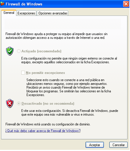 Opus Planet 003 Firewall de windows xp