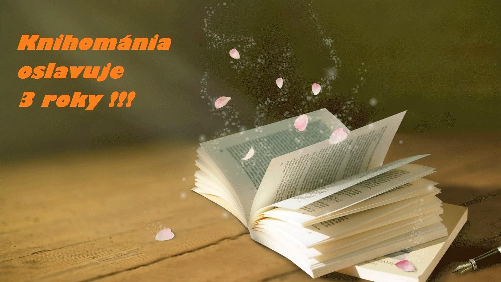 Knihománia oslavuje 3 roky !!! - výherca