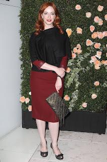 Christina Hendricks Tight Red Dress