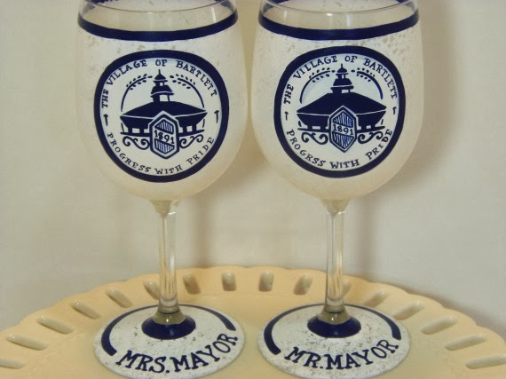 Village of Bartlett wine glasses