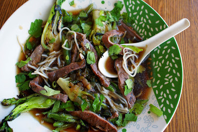 Vietnamese Beef Noodle Soup with Mint