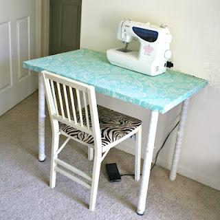 this is such an easy cheap project basically my favorite kind ive been needing a sewing desk for quite some time the craft table i made is awesome