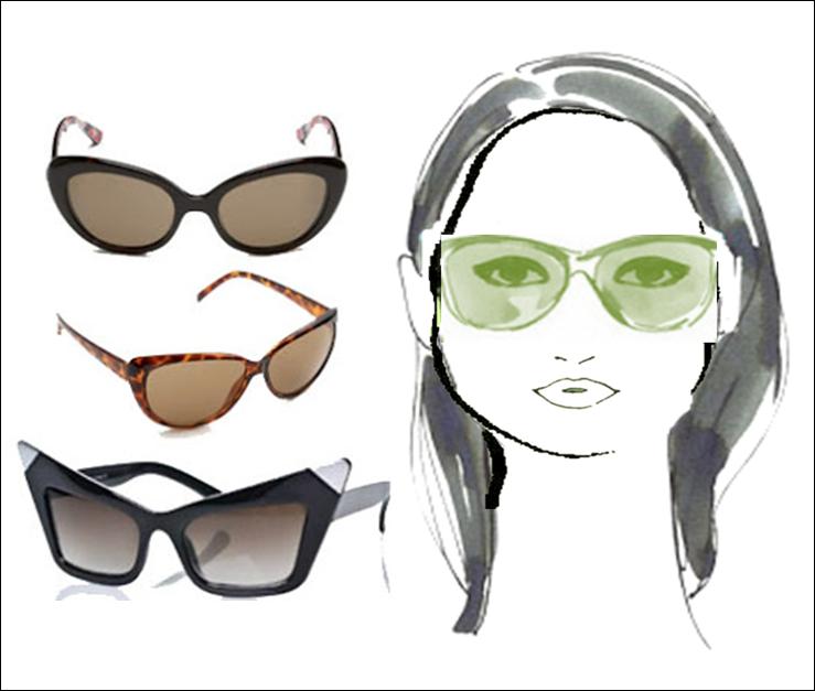 Kacamata untuk wajah berbentuk piramida